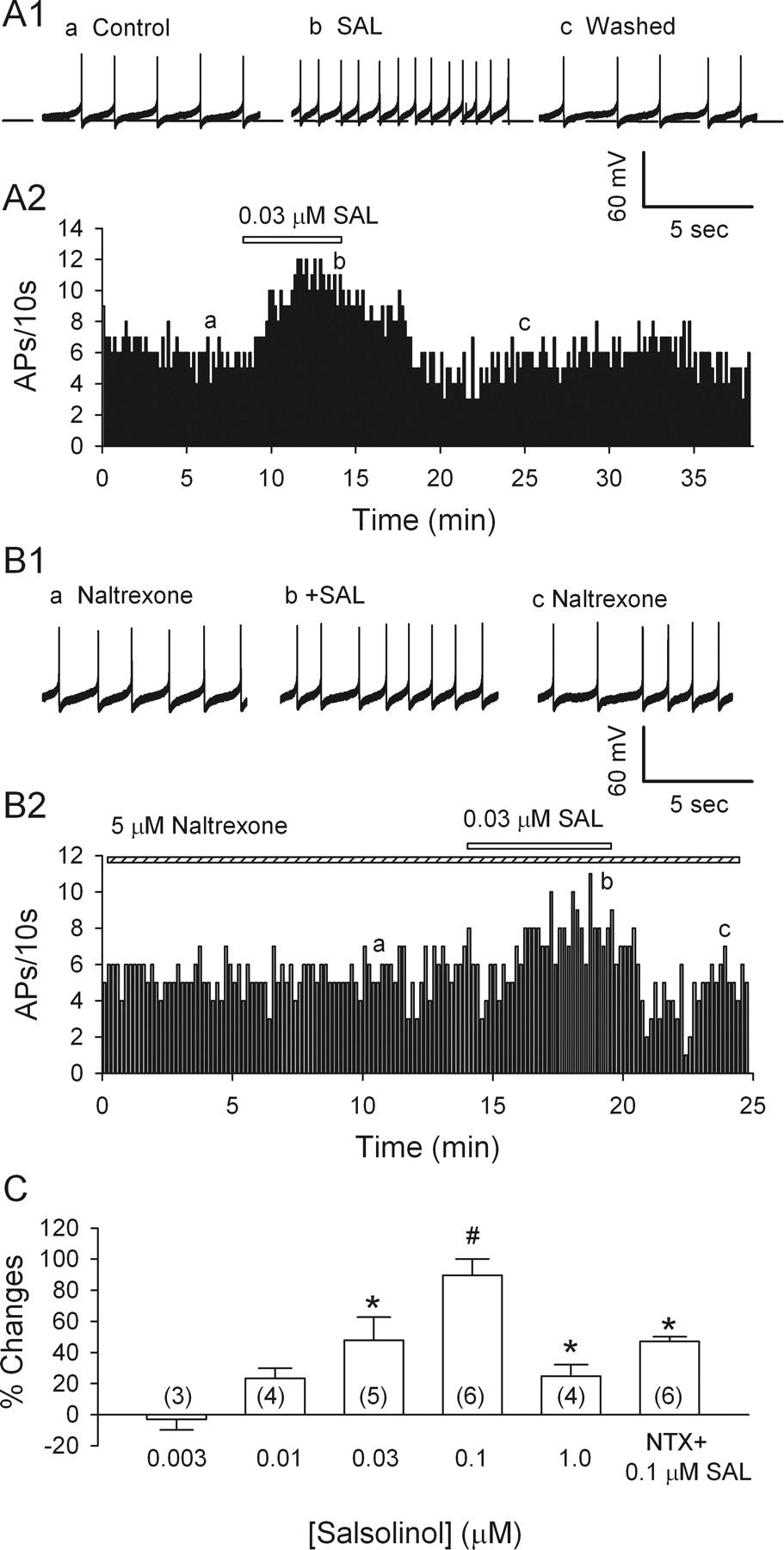 Salsolinol Stimulates Dopamine Neurons in Slices of Posterior
