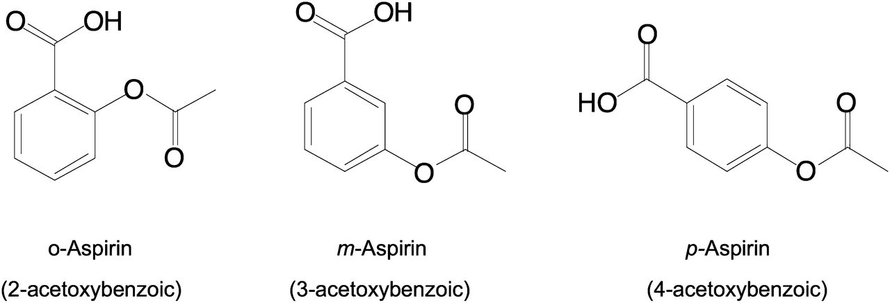Positional Isomers of Aspirin Are Equally Potent in