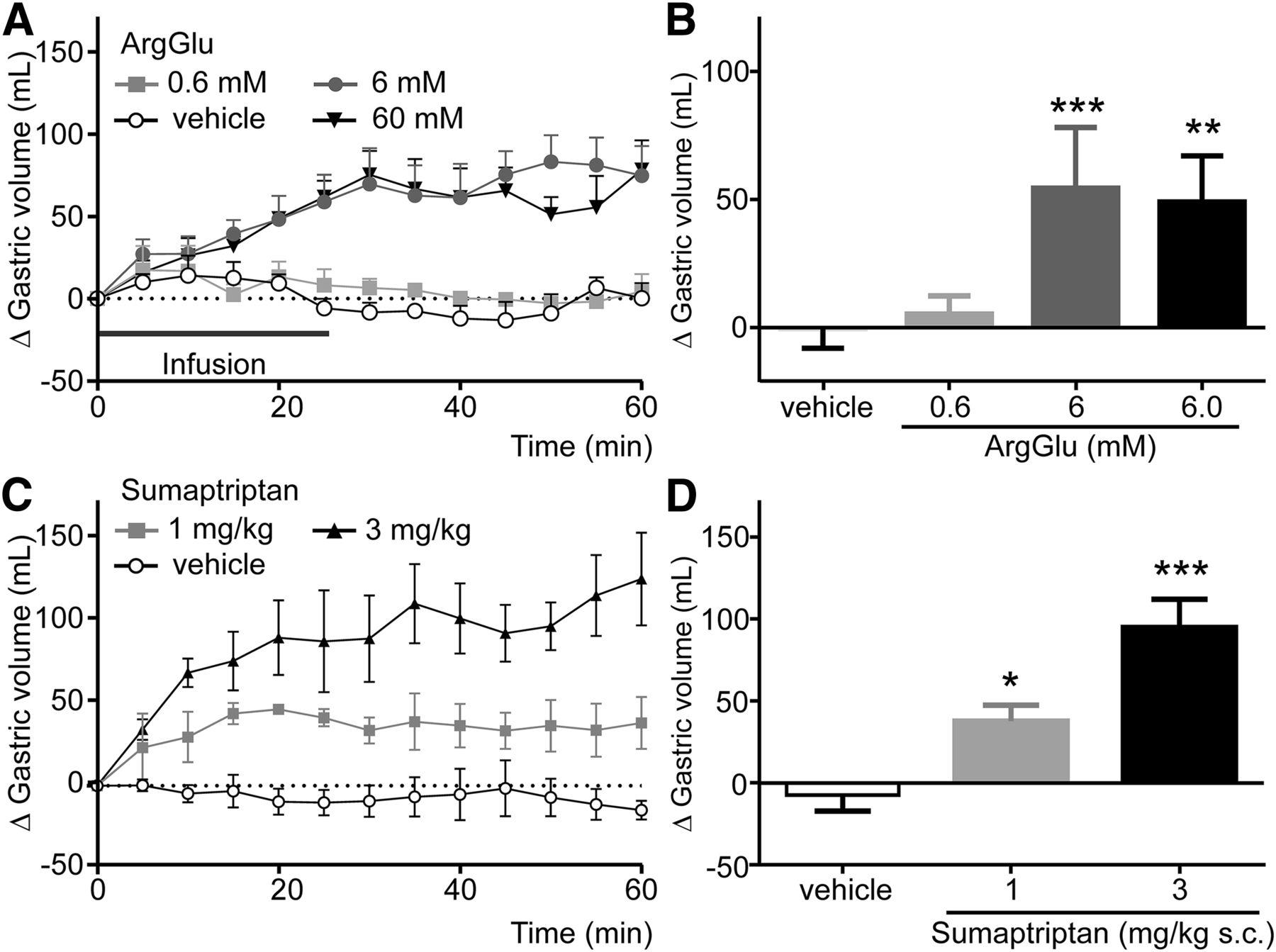 L-Arginine L-Glutamate Enhances Gastric Motor Function in