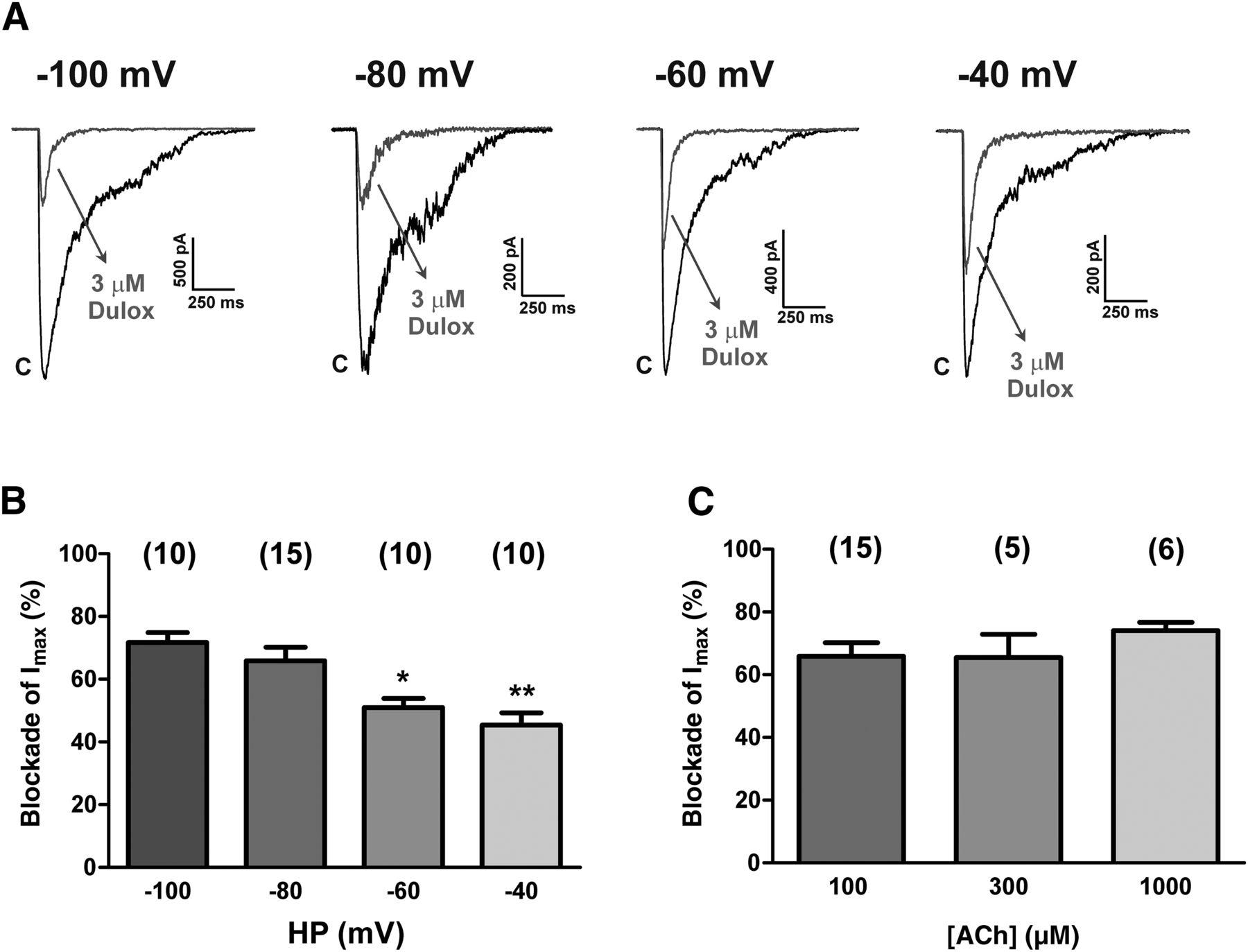Dual Antidepressant Duloxetine Blocks Nicotinic Receptor